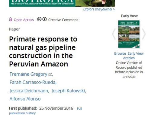 Farah Carrasco publishes new paper in Biotropica